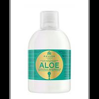 Увлажняющий шампунь Kallos KJMN1189 Алоэ Вера для восстановления блеска сухих и поврежденных волос
