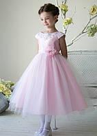 Роскошное нарядное платье с юбкой из тюля 2-12 лет (5 цветов)