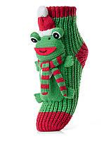 Женские детские носки ATTRACTIVE  3 D игрушка лягушка новогодняя