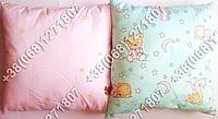 Детская подушка антиаллергенная 40х40 в кроватку (в розовых тонах)