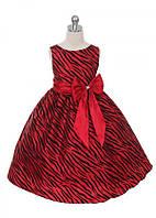 Нарядное яркое платье с принтом зебры 2-11 лет  (5 цветов)