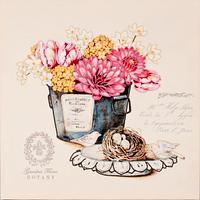 Схема для вышивки на подрамнике Цветы 1