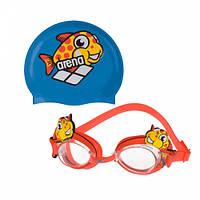 Набор для плавания Arena Bubble Set World (очки+шапочка)
