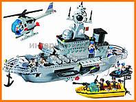 """Конструктор """"Военный корабль"""" 843 детали Brick-821"""
