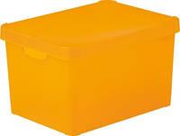 Коробка декоративная пластиковая для хранения с крышкой желтая 25 л 395Х295Х250 мм Curver CR-0173-2