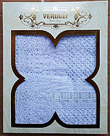 Скатерть кружевная 160*220 белый(ТМ Verolli)