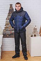 Мужской зимний костюм на синтепоне черный, фото 1