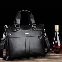 Мужская кожаная сумка-портфель в бизнес стиле. Модель 0434