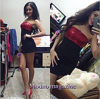 Клубное платье с пайетками