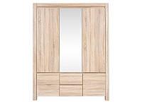 Шкаф трехдверный с зеркалом SZF5D2S Agustyn BRW дуб сонома