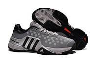 Кроссовки для тенниса Adidas Barricade 9 серые