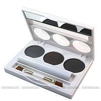 Malva - Набор для коррекции бровей Ultimate Brow and Eye Kit M-447 №02 (серые, темные тона)