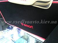 Текстильный Коврик в багажник для SMART Fortwo 450 (AVTO-GUMM) полиуретан