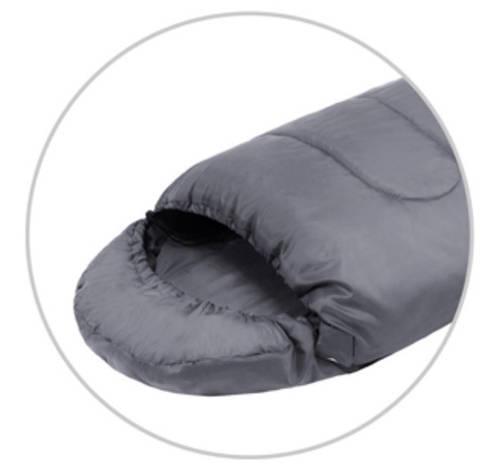 Практичный спальный мешок KingCamp Oasis 250(KS3121) / 7°C, L Grey 95126 серый