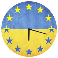 """Часы настенные """"Україна - Євросоюз"""""""