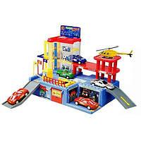 Трехуровневый паркинг 9889 – прекрасный подарок юному автомобилисту, 4 машинки
