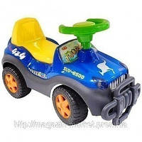 Машинка-каталка толокар М 0530-1 синяя, с музыкой