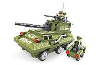 Танк конструктор Ausini, дополнительно – машина разведки, совместимость с лего, серия Армия
