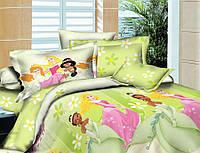 Полуторное детское постельное белье Принцесы (Ранфорса)