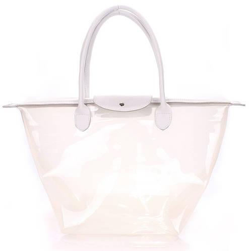 Модная кожаная женская сумка POOLPARTY Kelly pool-80-kelly-white белая