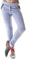 Практичные теплые женские штаны с карманами трехнить с начесом
