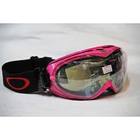 Горнолыжная маска-очки Oakley SG - 266 ( розовый ободок ).