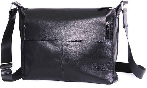 Мужская кожаная сумка с клапаном Tom Stone 504B черный