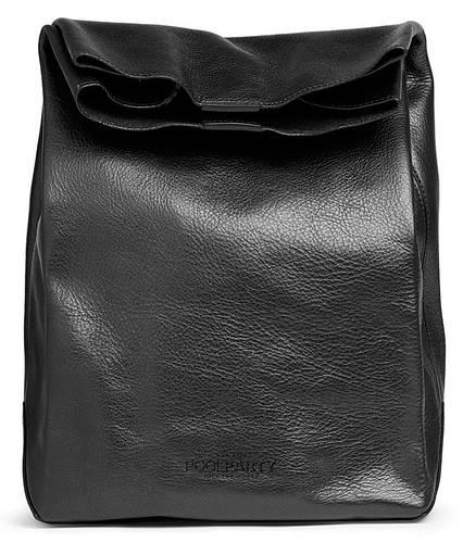 Сумка-клатч из натуральной кожи POOLPARTY LUNCHBOX leather-lunchbox черная