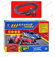 Детские игрушки Трек Шальные Гонки 02982 в коробке, 45-31-6 см, от 3 лет, Автомобильные треки для автолюбителю