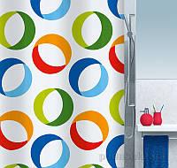 Шторка для ванной Spirella Rings 180х200 см цвет серо-черный