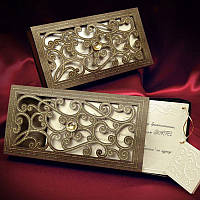Приглашения в виде коробочки, запрошення на весілля