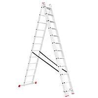 Лестница алюминиевая 3-х секционная универсальная раскладная INTERTOOL LT-0312