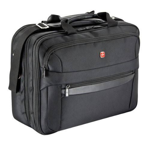 """Качественная надежная сумка с отделением для ноутбука до 17 """" Wenger W73012298 черный"""