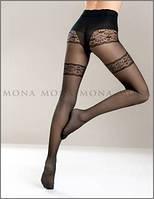 Колготы, колготки женские Mona 40 den с имитацией чулок