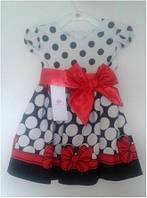 Платье 2215 с красным бантом