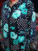 Женский велюровый халат больших размеров.