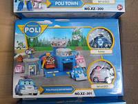 Игрушечный гараж Паркинг Полицейский отдел XZ 301, Робокар Поли и Робовэн Эмбер