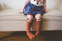 Гетры детские лисички коричневые