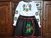 """Вышиванка для девочки костюм """"Калина"""" (7-8 лет)"""