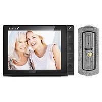 Надежный видеодомофон LUXURY 806 R2 серого цвета, запись видео и фото на SD-карточку