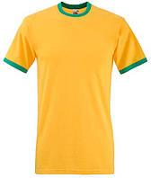 ФУТБОЛКА VALUEWEIGHT RINGER T (Цвет Солнечно-желтый и Ярко-зеленый;  Размер S)