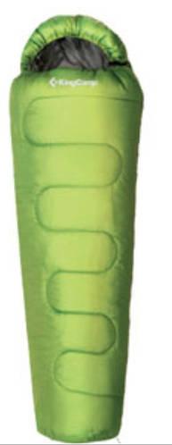 Комфортный спальный мешок KingCamp Treck 450L(KS3193) / -9°C, R Green  93966 зеленый