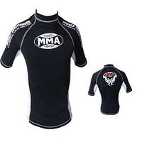 Футболка RashGuard  POWER SYSTEM  MMA - 001 DRAGON WHITE