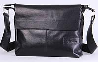 Кожаная мужская сумка-мессенджер Tom Stone 508B черный