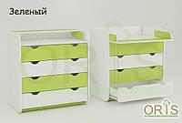 Детский комод-пеленатор ORIS-4 (цвет Бело-зеленый)
