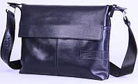 Кожаная мужская сумка-мессенджер Tom Stone 508BL синий