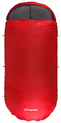 Яркий спальный мешок KingCamp Freespace 250(KS3168) / 7°C, L Red 94889 красный