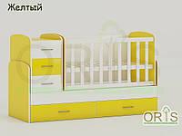 """Кровать - трансформер """"Maya"""" ORIS-mebel (цвет Бело - желтый)"""