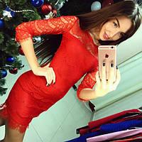 Женское нарядное платье из гипюра (3 цвета)