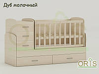 """Кровать - трансформер """"Maya"""" ORIS-mebel (цвет Дуб молочный)"""